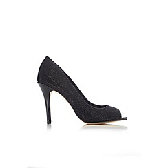 Wallis - Black peeptoe court shoe