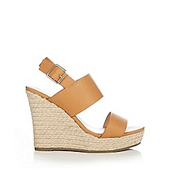 Wallis - Camel espadrille wedge