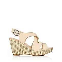 Wallis - Camel sling back wedge sandal