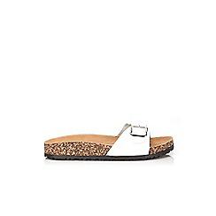 Wallis - White strap sandal