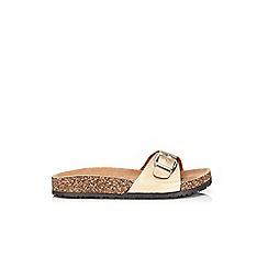 Wallis - Gold strap sandal
