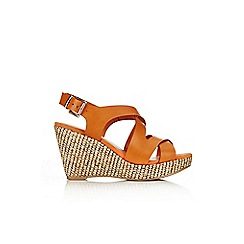 Wallis - Orange wedge sandal
