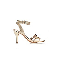 Wallis - Gold ankle strap sandal