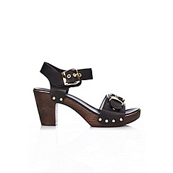 Wallis - Black buckle detail clog