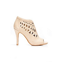 Wallis - Cream peep toe shoe boot