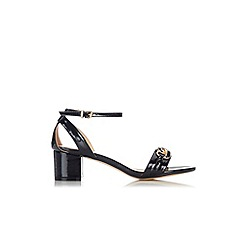 Wallis - Black heeled chain detail sandal