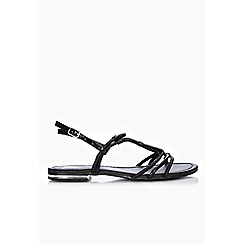 Wallis - Black strappy flat sandals