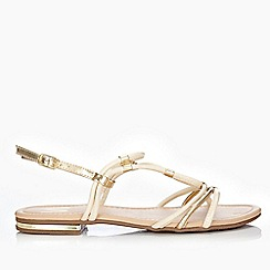 Wallis - Cream strappy flat sandals