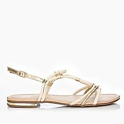 Wallis - Cream strappy flat sandals