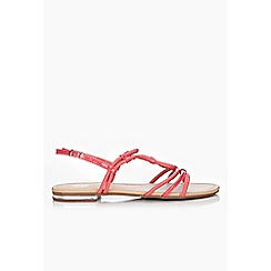 Wallis - Pink strappy flat sandals