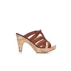 Wallis - Tan wedge mule
