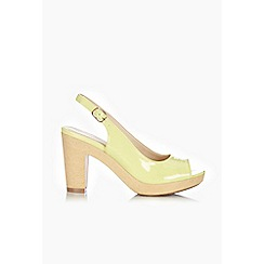 Wallis - Lime slingback heeled shoes