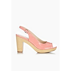 Wallis - Coral slingback heeled shoes