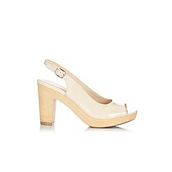 Wallis - Nude slingback heeled shoes