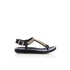 Wallis - Black diamante sandal