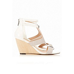 Wallis - White strap wedge shoe