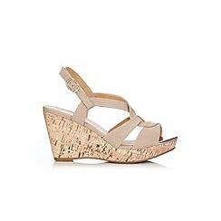 Wallis - Stone slingback wedge sandal