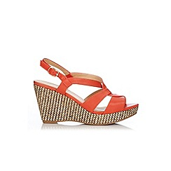 Wallis - Orange slingback wedge sandal