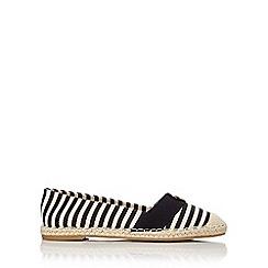 Wallis - Monochrome striped espadrille