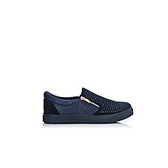 Wallis - Navy studded trainers