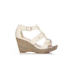 Wallis - White strappy wedge sandal