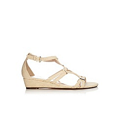 Wallis - Stone metal detail wedge sandal