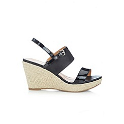 Wallis - Black espadrille wedge
