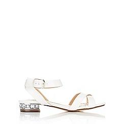 Wallis - White block heel sandal