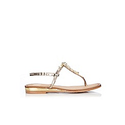 Wallis - Gold jewelled leather sandal