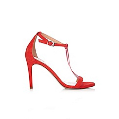 Wallis - Red t-bar strappy sandal