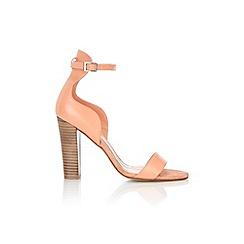 Wallis - Orange ankle strap leather sandal