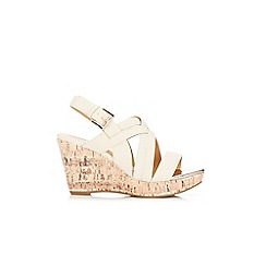 Wallis - Cream strap wedge sandal