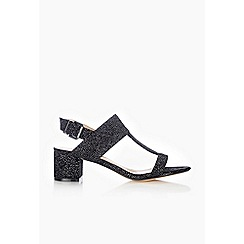 Wallis - Black glitter t-bar sandal