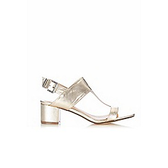 Wallis - Gold metallic t-bar sandal