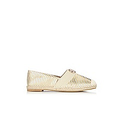 Wallis - Gold espadrille shoe