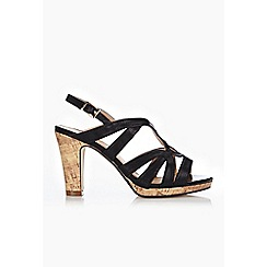 Wallis - Black caged platform sandal