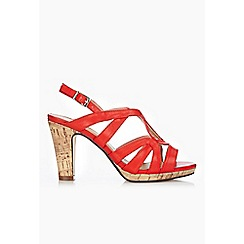 Wallis - Red caged platform sandal