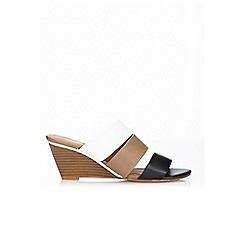 Wallis - Colour block wedge mule sandal