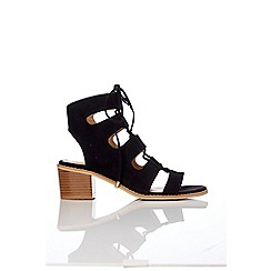 Wallis - Black lace up sandal