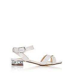 Wallis - Grey block heel sandal