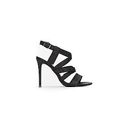 Wallis - Black multi strap sandals