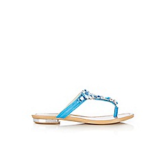 Wallis - Blue diamante toe post sandal