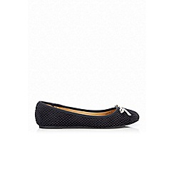 Wallis - Black bow ballerina shoe