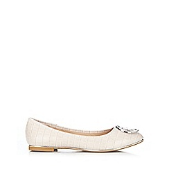 Wallis - Tan crocodile print ballerina shoe