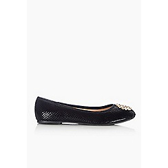 Wallis - Black trim ballerina shoe