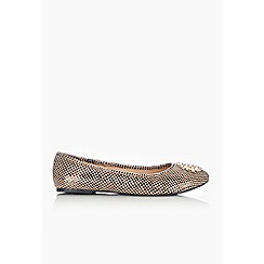 Wallis - Camel trim ballerina shoe