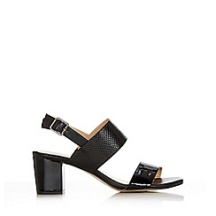 Wallis - Black double band sling back sandal
