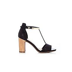 Wallis - Black t-bar block heel sandal