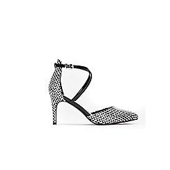 Wallis - Monochrome cross strap pointed court shoes