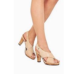 Wallis - Stone slingback sandals